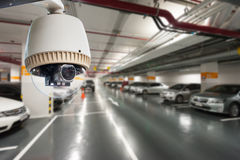 CCTV Camera Operating Royalty Free Stock Photography
