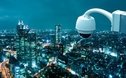 CCTV Camera Operating royalty free stock photos