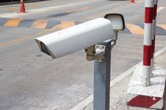 CCTV Camera Operating at gate Stock Photography