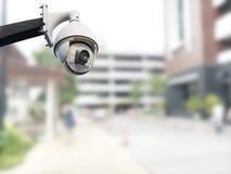 Cctv camera outdoor stock image