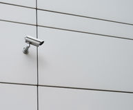 CCTV camera on a outside wall Stock Images