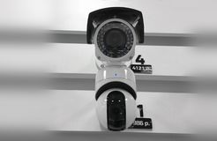 CCTV camera. Security camera on the wall. Private property protection. royalty free stock images