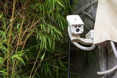 CCTV camera. Security camera on the wall. Private property prote Royalty Free Stock Image