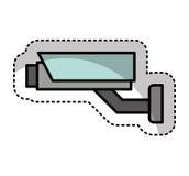 Cctv camera security icon Stock Photos