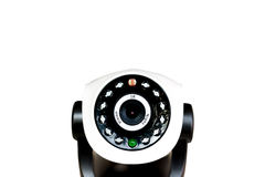 Cctv camera security isolated on white background Stock Images