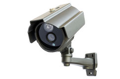 CCTV camera. CCTV security camera on white background stock image
