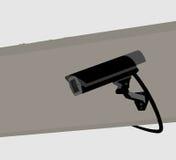 CCTV Camera silhouette scene Stock Photos