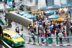 CCTV Camera surveillance on the big city Royalty Free Stock Image
