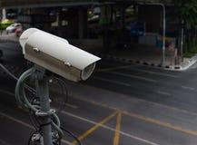 CCTV camera or surveillance operating on traffic Royalty Free Stock Image