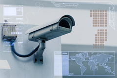 CCTV Camera technology on screen display royalty free stock images