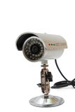CCTV camera for video surveillance on the metal stand Royalty Free Stock Photography