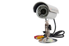 CCTV camera for video surveillance on the metal stand Stock Image
