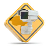 CCTV Camera. Video surveillance sign. Royalty Free Stock Images