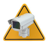 CCTV Camera. Video surveillance sign Stock Photos
