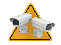 CCTV Camera. Video surveillance sign Stock Image