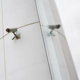 CCTV camera on the wall royalty free stock photo