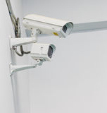 CCTV camera on wall Royalty Free Stock Photo