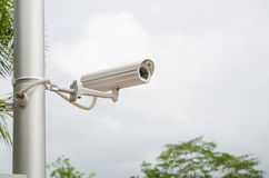 CCTV camera watching for security Stock Photos