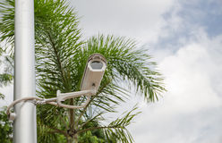 CCTV camera watching for security Royalty Free Stock Photos