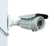Cctv  camera on white background Royalty Free Stock Images