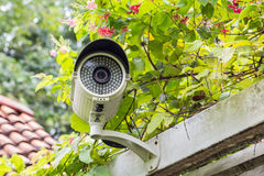 CCTV Camera. On the white wall Stock Images
