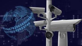 CCTV cameras and digital globe