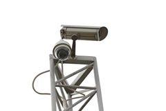 CCTV cameras installed in box set. Stock Photos