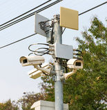 Cctv cameras in public park Stock Images