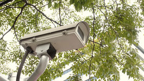 CCTV cameras. Recorded the events that occur Royalty Free Stock Photo