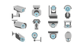 CCTV cameras set. royalty free illustration