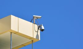 CCTV cameras on a top Royalty Free Stock Photos