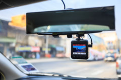 CCTV car camera. Dash camera in car stock photo