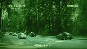 CCTV Cars In Forest stock video