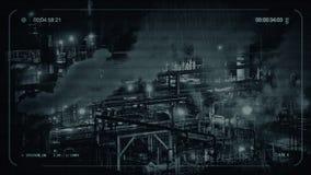 CCTV che fuma funzione industriale alla notte illustrazione vettoriale
