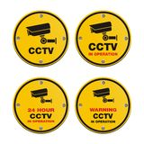 CCTV circle sign. Suitable for warning signs Royalty Free Stock Photo