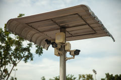 CCTV con el escudo de la cubierta Fotos de archivo