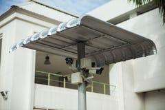 CCTV con el escudo de la cubierta Imagen de archivo