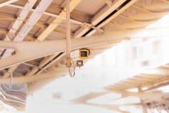 CCTV con il binario vago del treno della metropolitana immagini stock libere da diritti
