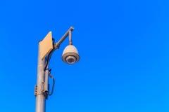 cctv con il fondo del cielo blu Fotografia Stock Libera da Diritti
