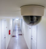 CCTV in condominiun in front of rooms Royalty Free Stock Photography