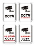 CCTV de advertência na operação - sinais de aviso Fotografia de Stock Royalty Free