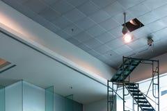 CCTV elettronico di manutenzione in costruzione moderna fotografia stock