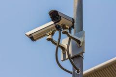 CCTV eller säkerhetskamera Arkivfoto