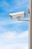 CCTV en el cielo azul Fotografía de archivo