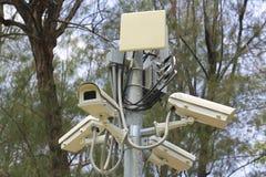 CCTV en el parque de Jatujak fotografía de archivo