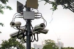 CCTV en el polo Imagen de archivo libre de regalías