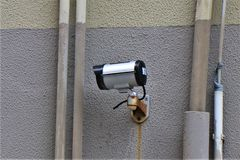 CCTV, External Video Camera, Property Survelliance. royalty free stock photos