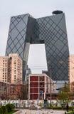 CCTV förlägger högkvarter byggnad på den tredje vägen för öst, Peking Arkivfoton