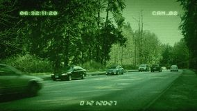 CCTV Forest Highway stock footage