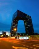 CCTV headquarter at night,Beijing,China Royalty Free Stock Photography